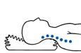 Подушка пуховая с бортиком с ортопедическим эффектом