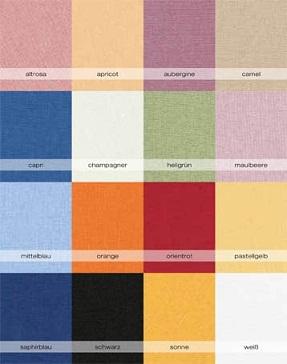 Цветовая гамма трикотажных простыней